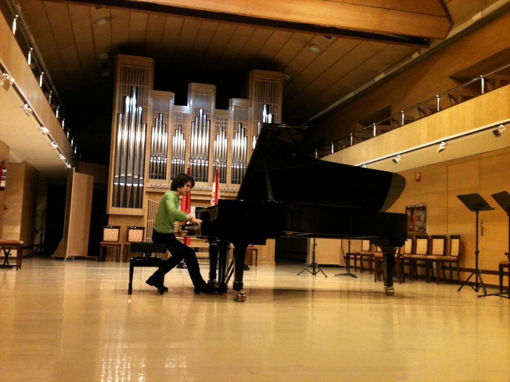 En el auditorio del Conservatorio Superior de Madrid
