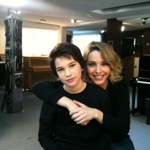 Matteo con Judith Jáuregui