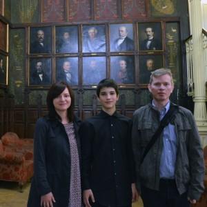 Matteo en el Ateneo con Pex Cornel y Pamela
