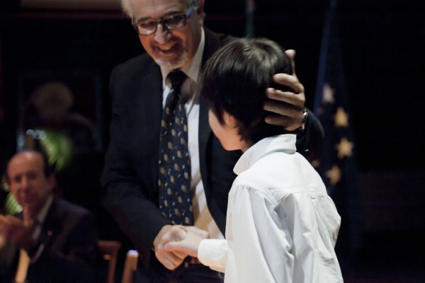 Con el director del  colegio italiano